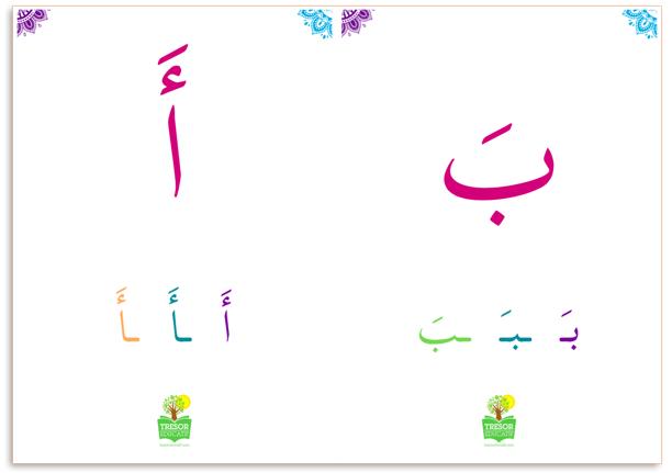 Les 28 Lettres De L Alphabet Arabe Isolees Et Sous Toutes Leurs Formes Tresor Educatif